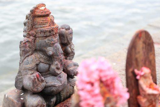Lord Ganesha Statue at Riverside of Mysore, Karnataka, India