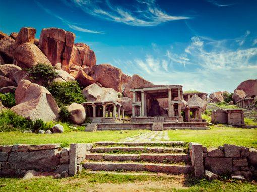 Temple ruins in Hampi Karnataka