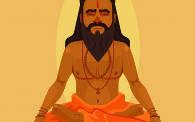 Vedic rishi or yogi in deep meditation